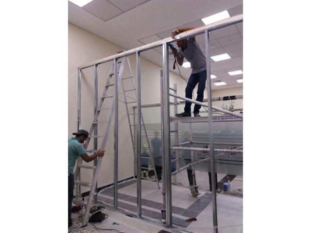 Dismantling office glass partition/ Gypsum partition fit out 052-5868078