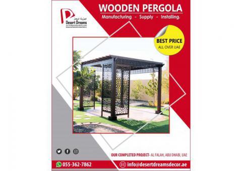 Wooden Pergola Abu Dhabi   Garden Pergola   Outdoor Pergola Abu Dhabi, UAE.