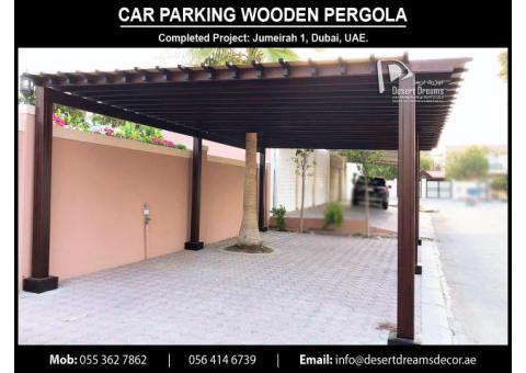Car Parking Wooden Shades Abu Dhabi   Car Parking Pergola Abu Dhabi.