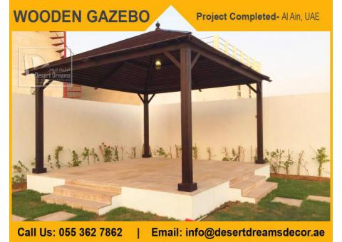Wooden Gazebo Abu Dhabi | Wooden Gazebo Dubai | Wooden Gazebo Manufacturer in Uae.