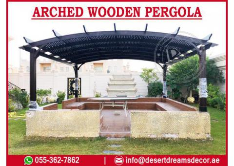 Wooden Pergola Builders Uae | Arched Pergola | Entrance Door Pergola Uae.