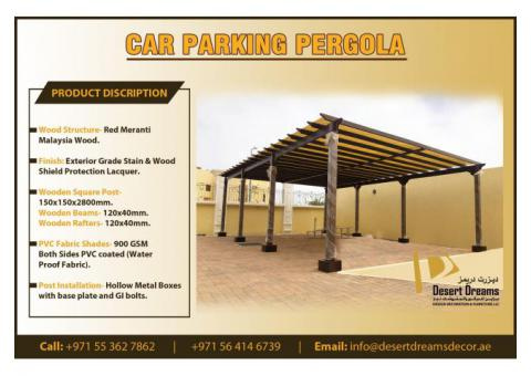 Car Parking Wooden Shades Uae | Car Parking Pergola Dubai.