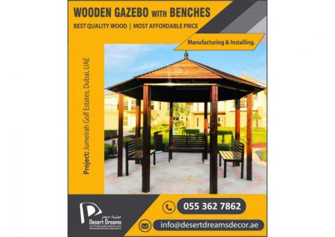 Wooden Gazebo Builders in UAE | Wooden Decking Gazebo Uae.
