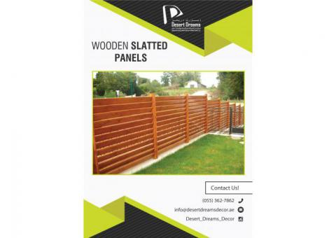 Privacy Slatted Panels Uae | Wooden Louver Fences in Dubai.