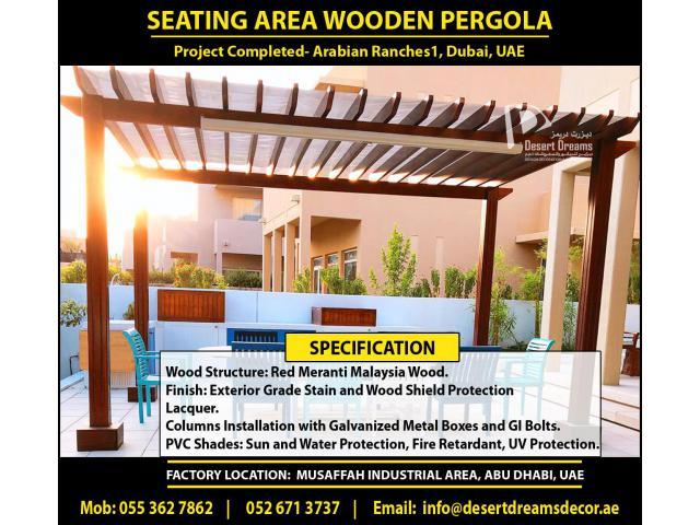 Wooden Structures Dubai | Outdoor Pergola | Wooden Pergola Supplier in Uae.