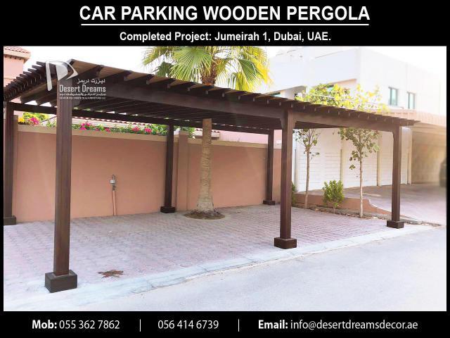 Car Parking Wooden Structures Uae | Car Parking Pergola Uae.