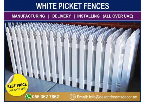 Supply and Installing White Picket Fences All Over Uae.
