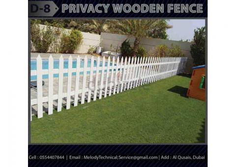 Garden Fence Suppliers Dubai | Wooden Fence UAE | Picket Fence Dubai