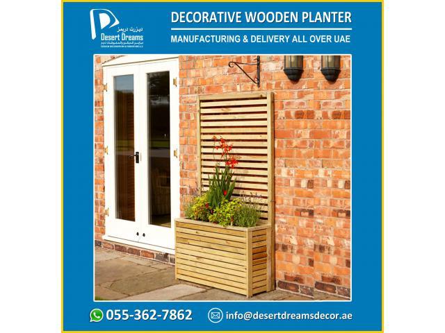 Wooden Planter Suppliers in UAE | Wooden Planter Box Uae.