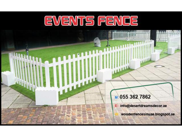 Events Fences Dubai, Abu Dhabi, Al Ain | White Picket Fences Uae.