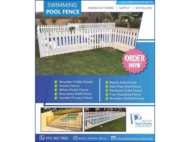 Events Fences Suppliers in UAE | Kids Play Area Fences | White Picket Fences.