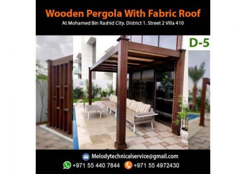 Modern Pergola Design in UAE | Pergola Suppliers | Wooden Pergola Abu Dhabi