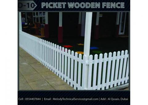 Self Standing Wooden Fence Dubai | Picket Fence Dubai | Garden fence Dubai