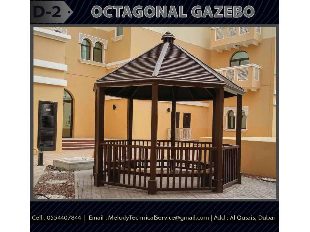 Seating Area Wooden Gazebo | Gazebo Suppliers in Dubai | Garden Gazebo UAE
