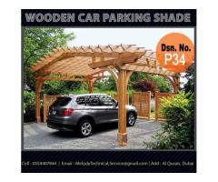 Wooden Structure Car Parking Shade in Dubai | Car Parking Pergola Dubai