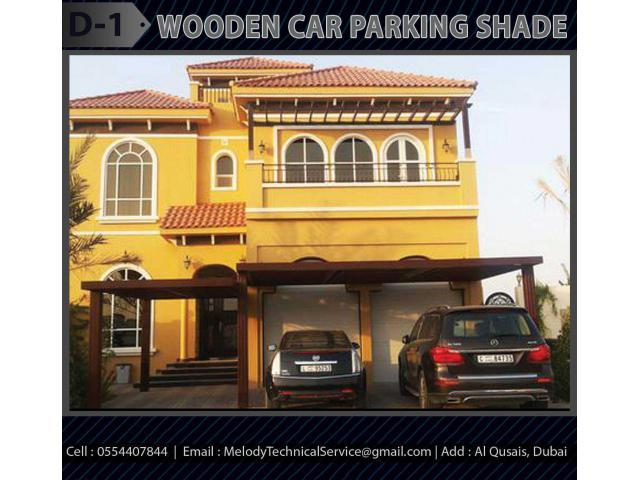 Wooden Structure Car Parking Shade in Dubai | Car Parking Pergola Dubai
