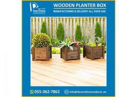Decorative Wooden Planter Box Suppliers in UAE.