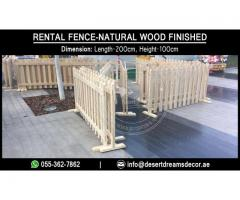 Portable Wooden Fences Suppliers in Uae | Swimming Pool Fences | Events Fences Dubai.