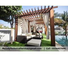 Swimming Pool Pergola At Abu Dhabi | Wooden Pergola | Pergola Suppliers in Abu Dhabi