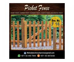 Garden Privacy Fence | Fence Suppliers Abu Dhabi | Wooden Fence UAE