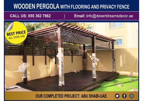 Wooden Swings Pergola Uae | Garden Pergola | Seating Area Pergola.