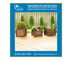 Wooden Planter Box Suppliers Uae | Decorative Wooden Planters Uae.