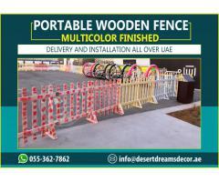Portable Wooden Fences Uae | Rental Fence | Wooden Fences Abu Dhabi, Dubai.