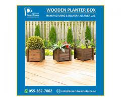 Wooden Planter Box Suppliers | Decorative Planters Box Uae.