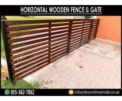 Horizontal Wooden Fence | Wooden Slatted Fence Uae.