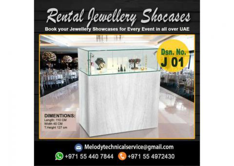 Rental Jewelry Showcase in Dubai | Wooden Display Stand Suppliers Dubai
