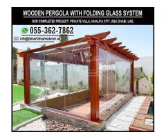 Folding Glass Pergola Uae | Glass Pergola | Glass Covered Pergola Uae.