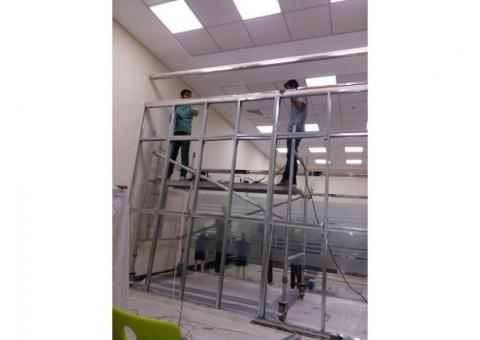 Glass,Aluminium,Gypsum Installation,Partitioning & Maintenance,0525868078