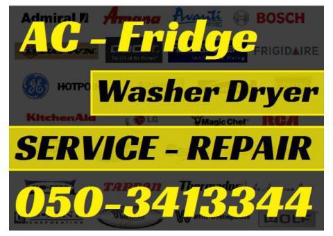 Ac Fridge Washer Dryer Repairing Fixing in Dubai