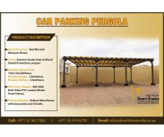 Wooden Shades for Car Parking | Car Parking Solutions in UAE.