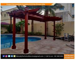 Wooden Covered Roof Pergola | Free Stand Pergola | Balcony Pergola Dubai