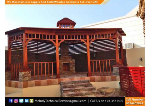 Hexagonal Wooden Gazebo in Dubai | Garden Gazebo | Gazebo Suppliers UAE