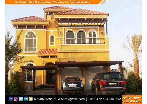 Wooden Sun Shades | Wooden Walkway Shades Dubai | Wooden car Parking Shades