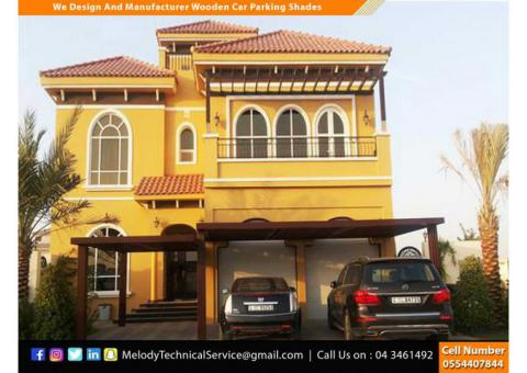 Wooden Car Parking Shades Dubai | Car Parking Wooden Pergola Dubai
