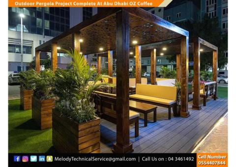 Wooden Pergola in Abu Dhabi | Garden Pergola | Pergola Suppliers in UAE