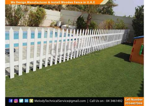 Picket Fence in Abu Dhabi | Wooden Fence UAE | Garden Fence Abu Dhabi