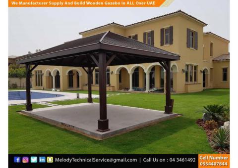Gazebo With Decking Dubai | Wooden Gazebo Abu Dhabi | Gazebo Suppliers UAE