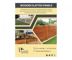 Horizontal Wooden Fences | Wooden Slatted Panels Uae.