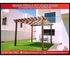 Sun Shades Pergola Abu Dhabi | Supply and Install Wooden Pergola in Uae.
