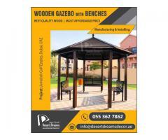 Supply and Install Wooden Gazebo in Abu Dhabi, UAE.