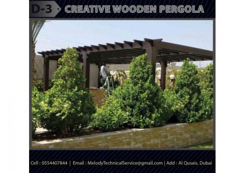 Design Manufacturer And Installation Wooden Pergola in Abu Dhabi