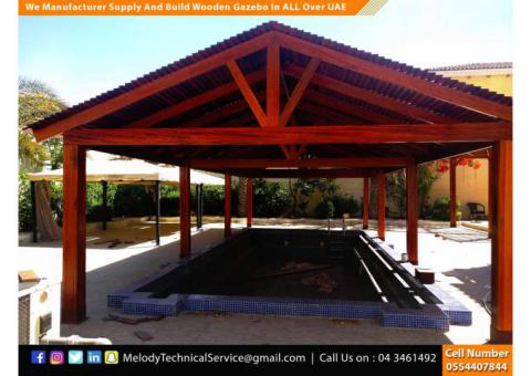 Wooden Gazebo Suppliers in Abu Dhabi With Free Installation