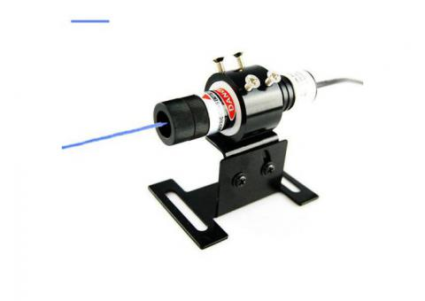 Berlinlasers 50mW Blue Line Laser Alignment with DC Power Supply