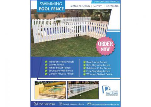 Natural Wood Fences Dubai | White Picket Fences | Brown Color Fences Uae.