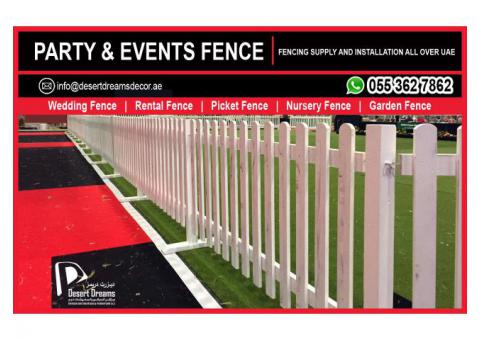 Party Fence | Events Fence | Wedding Fence | Kids Fence | Garden Fence Uae.