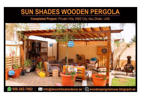 Sun Protection Shades Pergola | Seating Area Pergola | Dubai | Abu Dhabi | Ain.